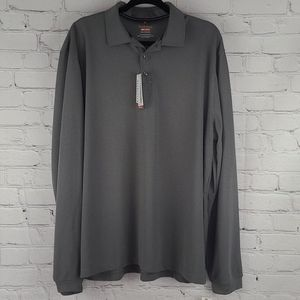 Van Hessen Gray Long Sleeve Traveler Shirt Sz XXL